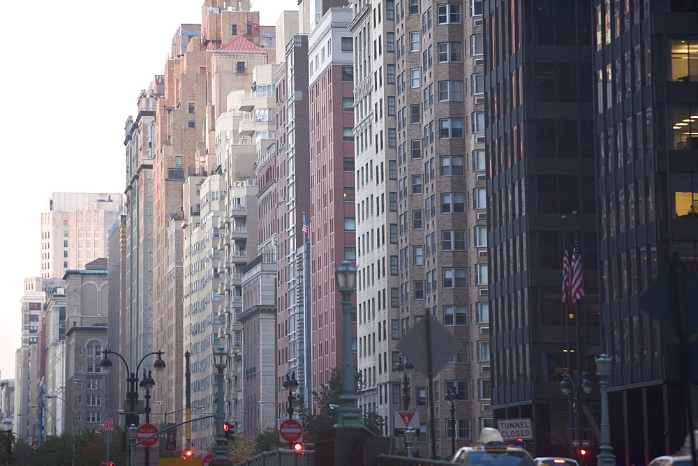 USA, New York City, Row of high rise buildings