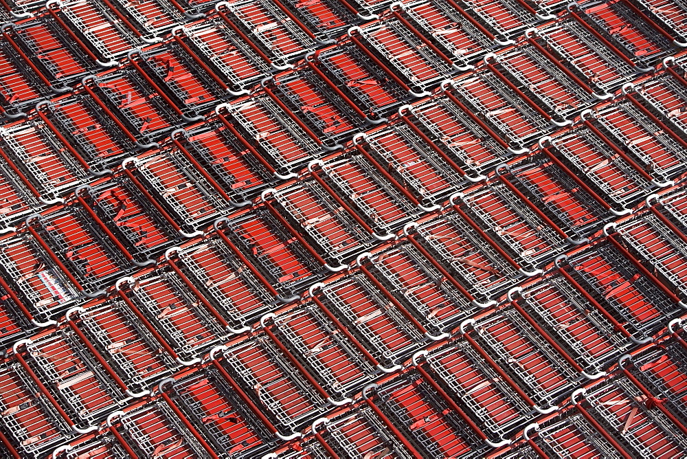 Full frame shot of supermarket trolleys