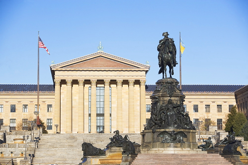 USA, Pennsylvania, Philadelphia, Philadelphia Museum Of Art facade
