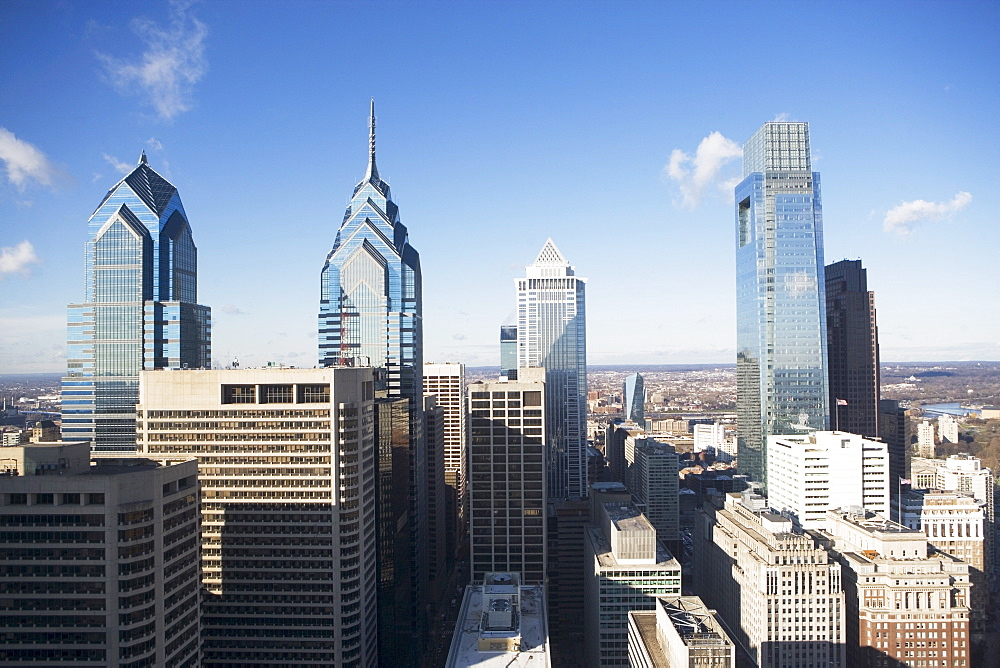 USA, Pennsylvania, Philadelphia, skyscrapers