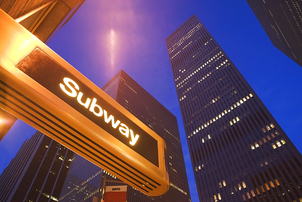 USA, New York State, New York City, subway station at 6th avenue - 1178-21166