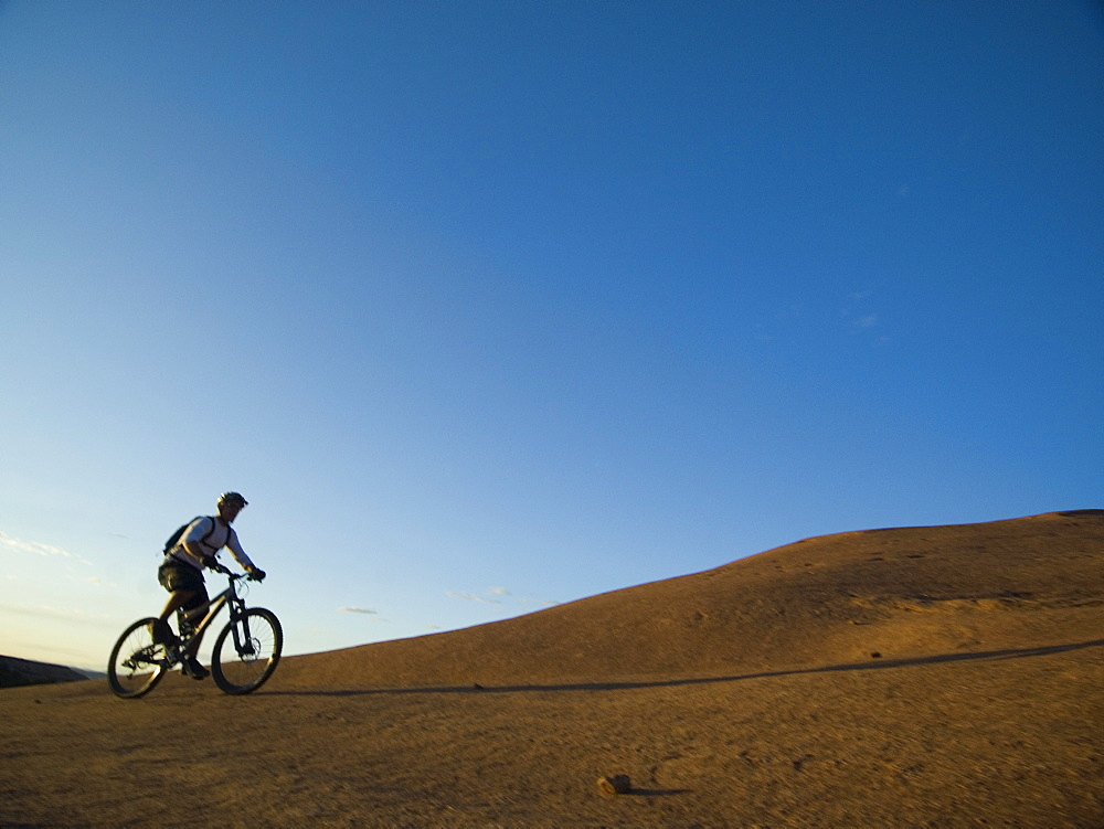 Person riding mountain bikes
