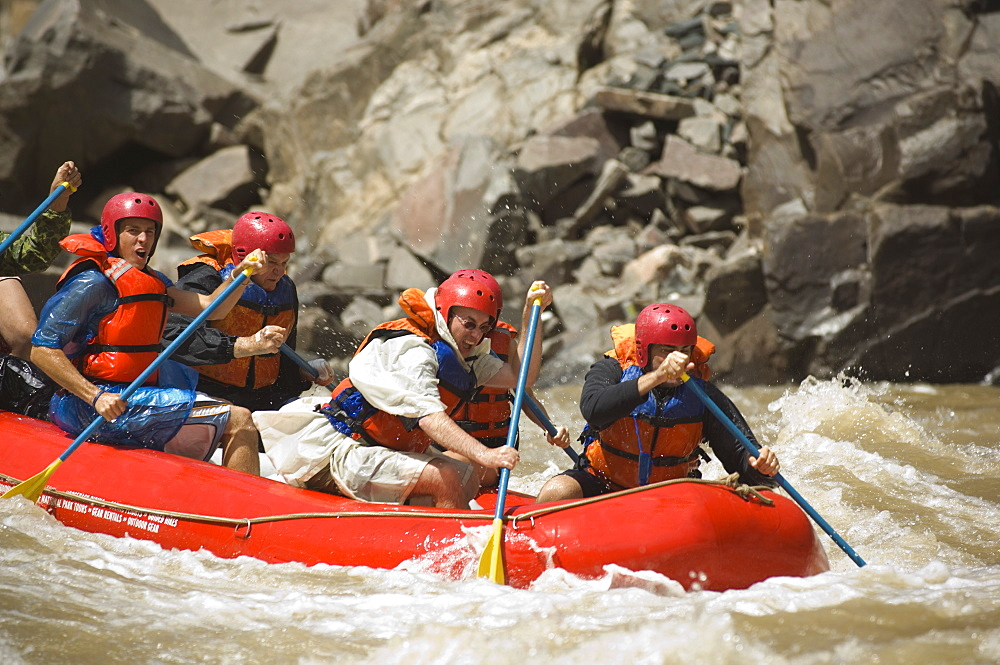 Group of people river rafting - 1178-21645
