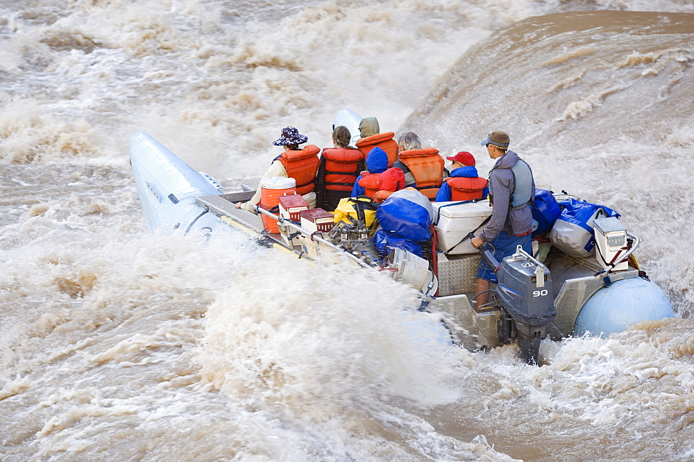 People white water rafting, Colorado River, Moab, Utah, United States