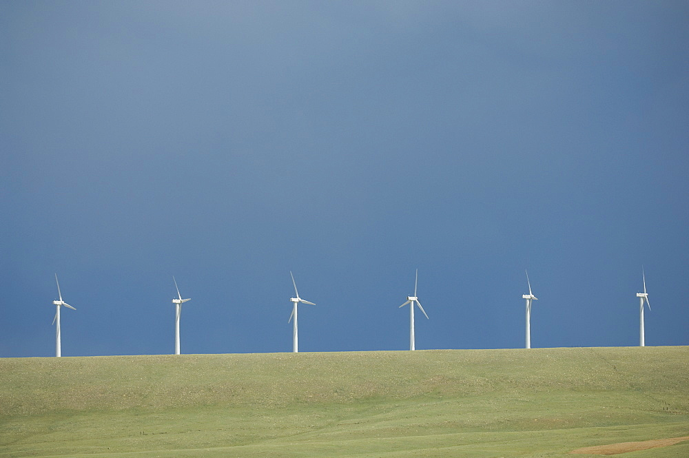 Row of energy windmills