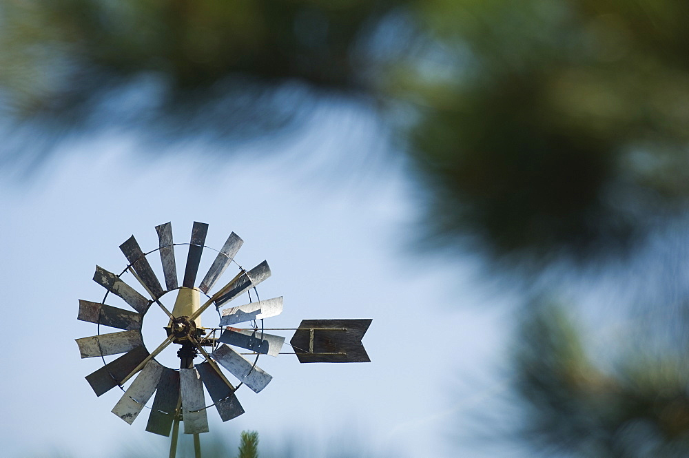 Close up of small windmill