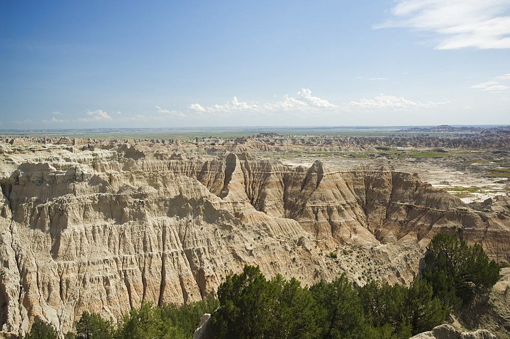 Scenic view of canyons