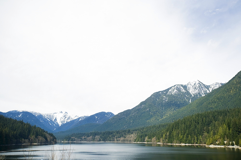 Mountains and lake, Vancouver, British Columbia, Canada