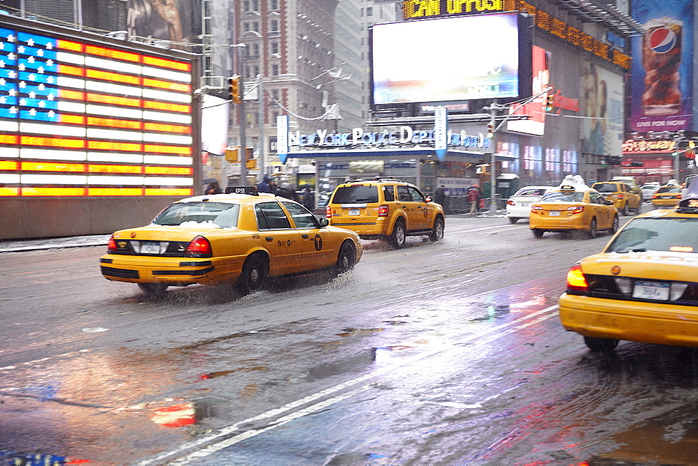 Yellow taxis on Time Square, New York City - 1178-23186