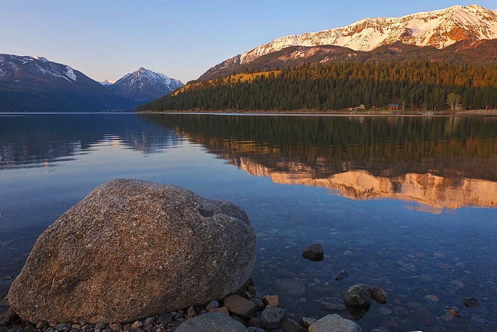 Wallowa Lake at sunrise, Wallowa County, Oregon