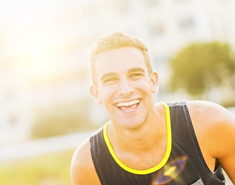 Portrait of young man smiling, Jupiter, Florida