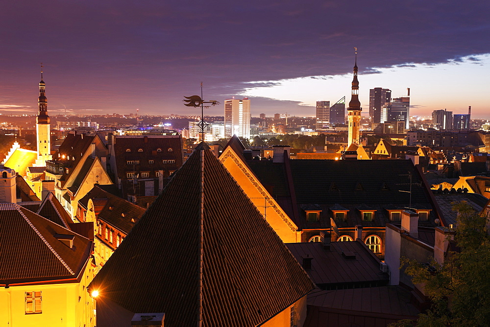 City at sunrise, Tallin, Estonia