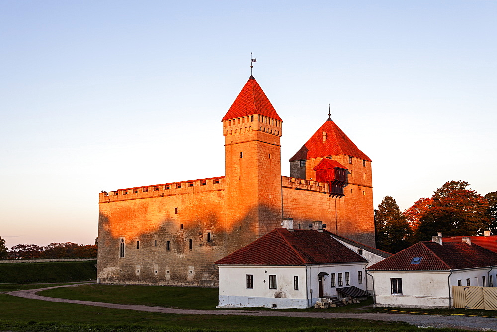 View of castle and houses, Estonia
