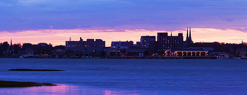 View of city across river, Prince Edward Island, New Brunswick, Canada