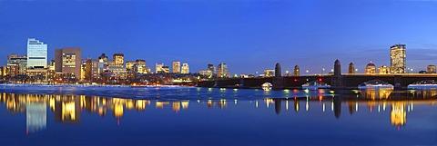 Panoramic view of waterfront, Boston, Massachusetts