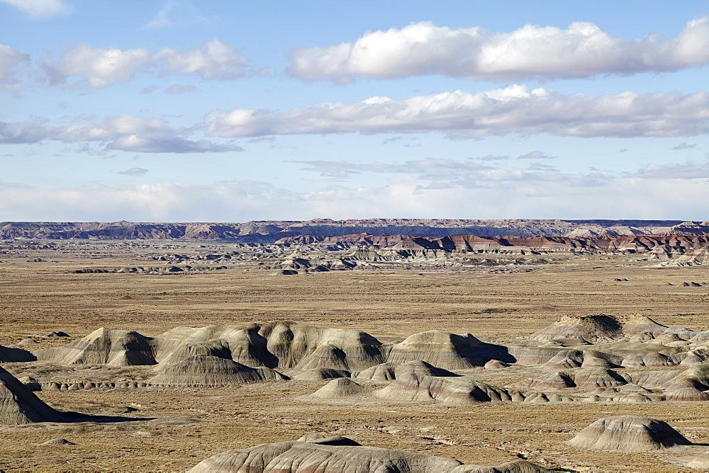 Scenic view of landscape, Little Painted Desert, Arizona