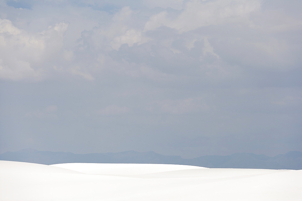 Scenic view of landscape, White Sands National Monument, Alamogordo, New Mexico