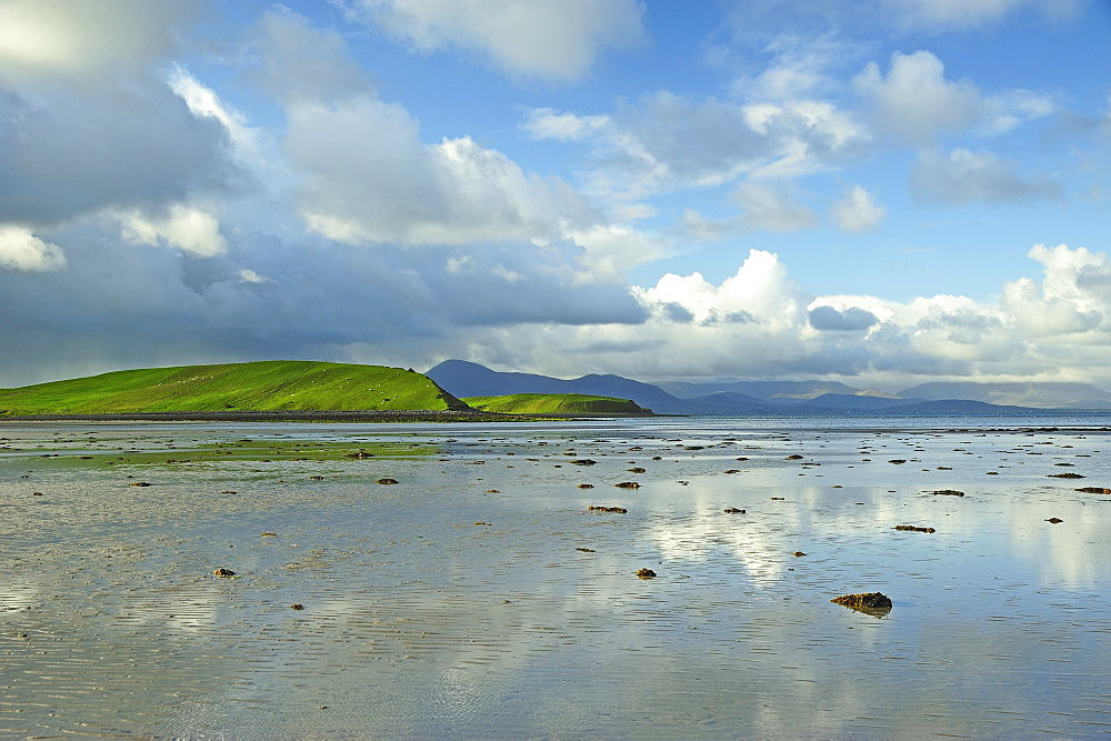 Clouds reflecting in calm water, Clew Bay, County Mayo, Ireland