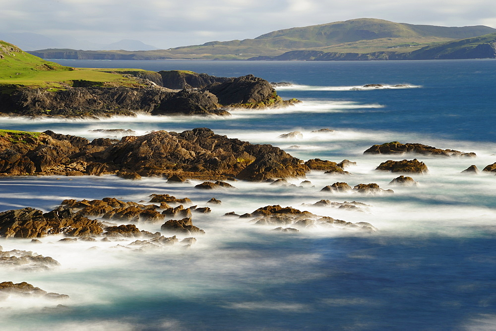 Seascape and rocky coast, Achill Island, County Mayo, Ireland