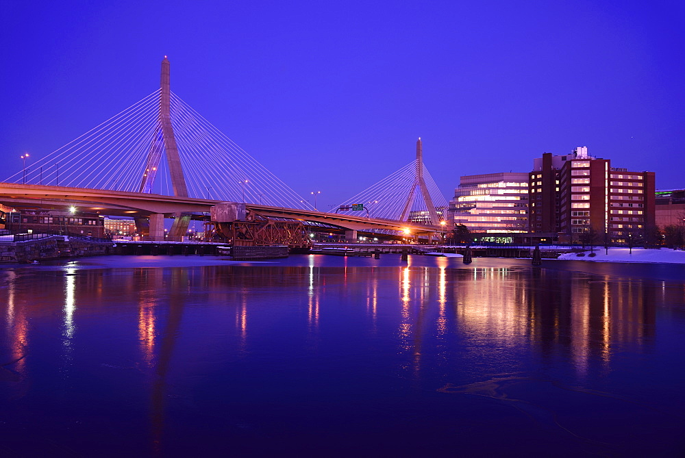 Leonard P Zakim Bridge, Leonard P Zakim Bridge, Boston, Massachusetts,USA
