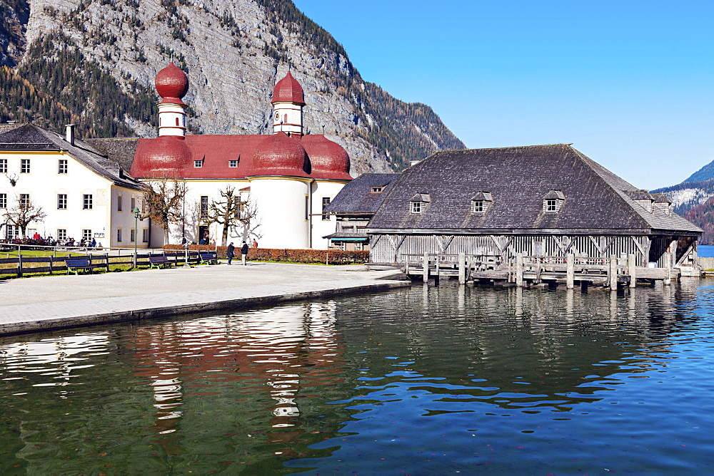 St. Bartholomew's Church by Koenigssee lake, St. Bartholomew's Church,Berchtesgaden, Bavaria, Germany