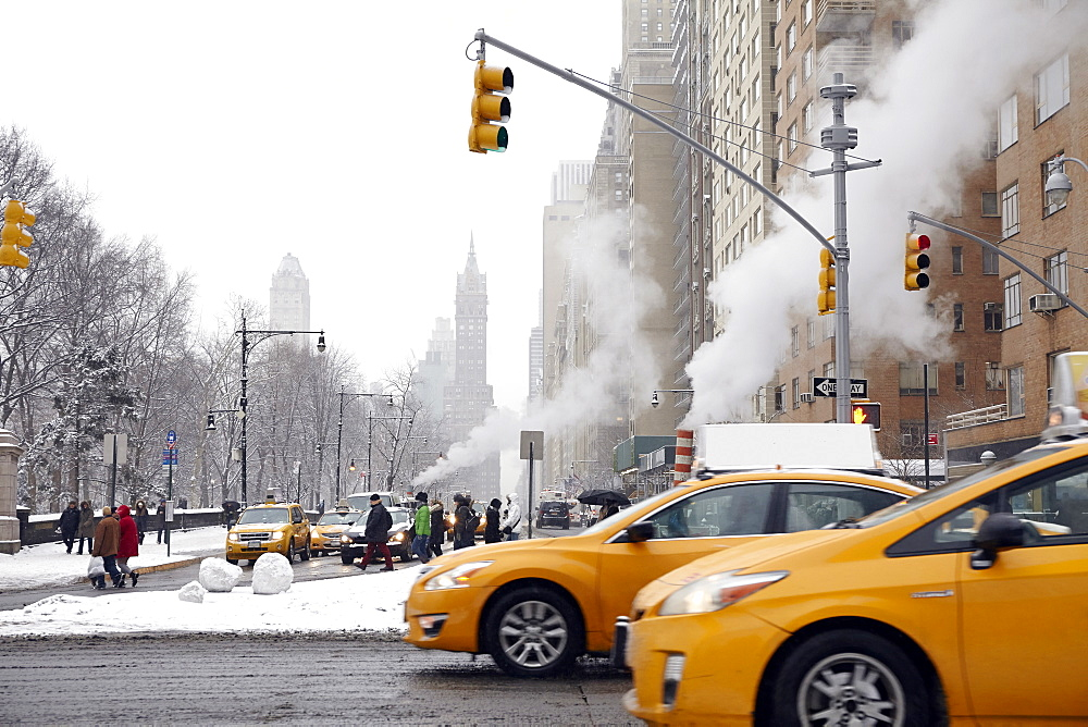 Traffic on street, New York City, New York,USA