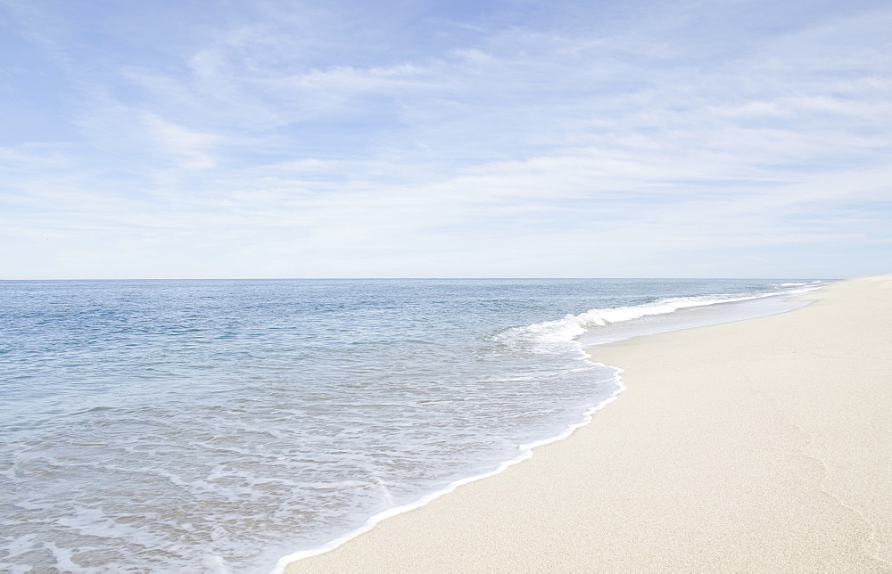 Scenic view of beach by sea, Nantucket, Massachusetts,USA