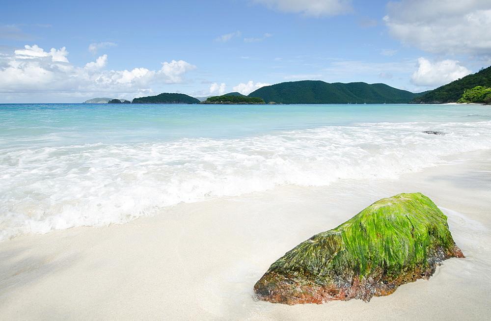 Scenic view of coastline, Trunk Bay, St. John, US Virgin Islands