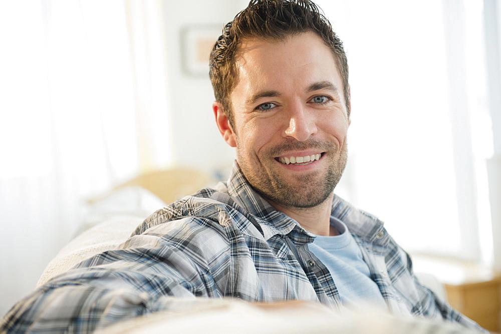 Portrait of content man