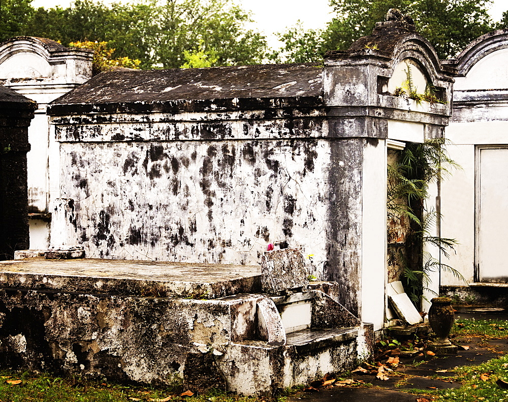 Tomb in old cemetery, USA, Louisiana, New Orleans