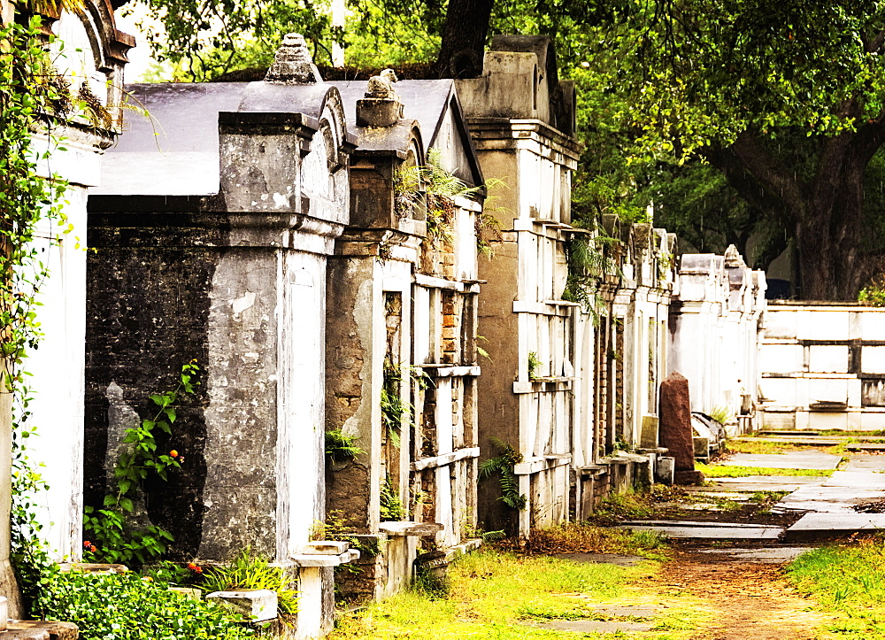Tombs and mausoleums in old cemetery, USA, Louisiana, New Orleans