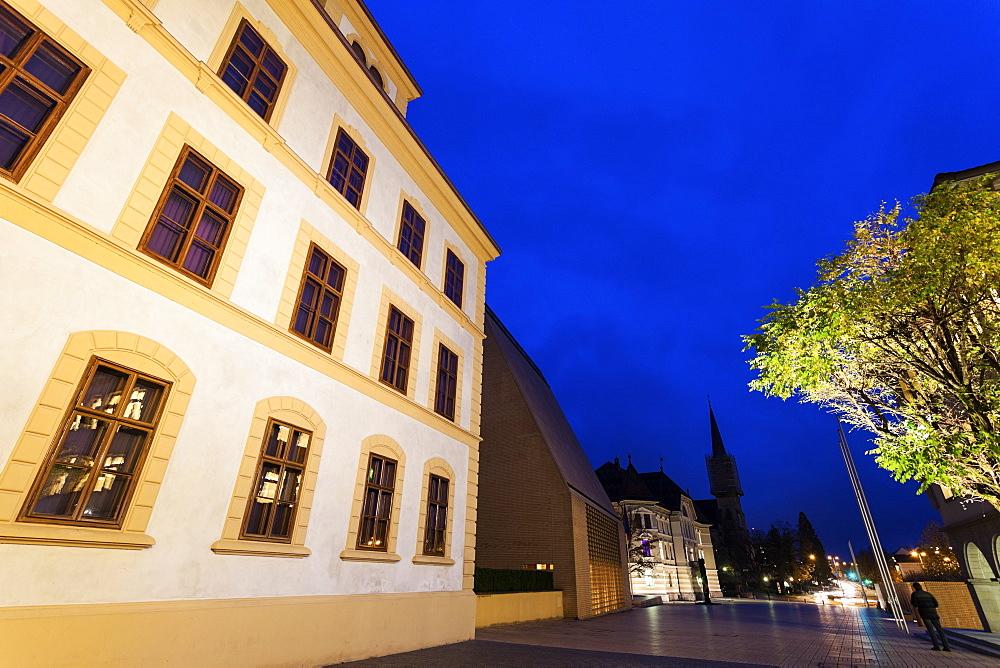 Liechtensteinisches Landesmuseum and Stadtle Street, Liechtenstein, Vaduz, Liechtensteinisches Landesmuseum,Stadtle Street