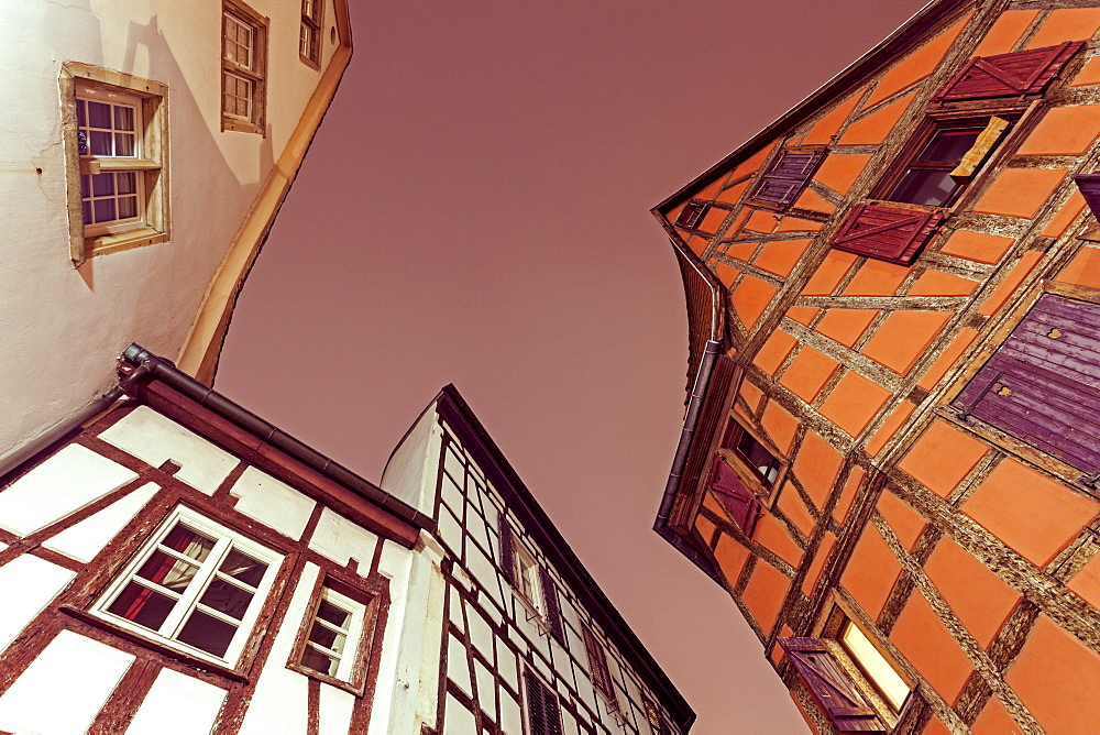 Old town architecture, France, Alsace, Strasbourg