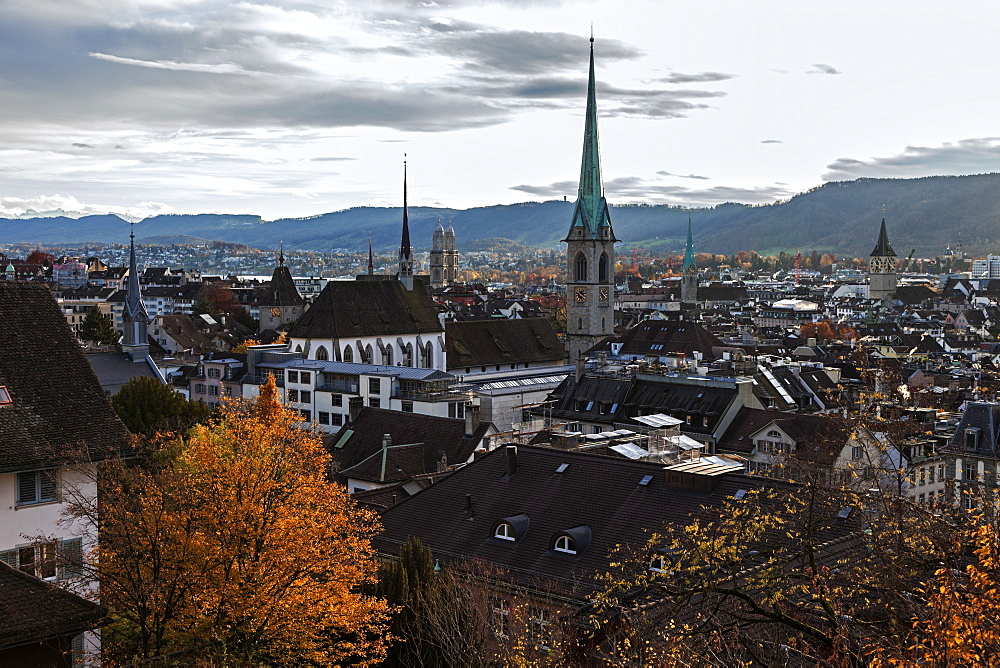 Churches in old town, Switzerland, Zurich, Churches of Zurich