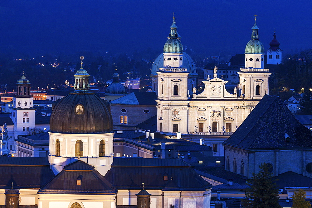 Churches in old town, Austria, Salzburg, Churches