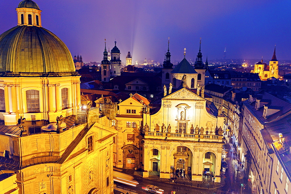 Cathedral at night, Czech Republic, Prague