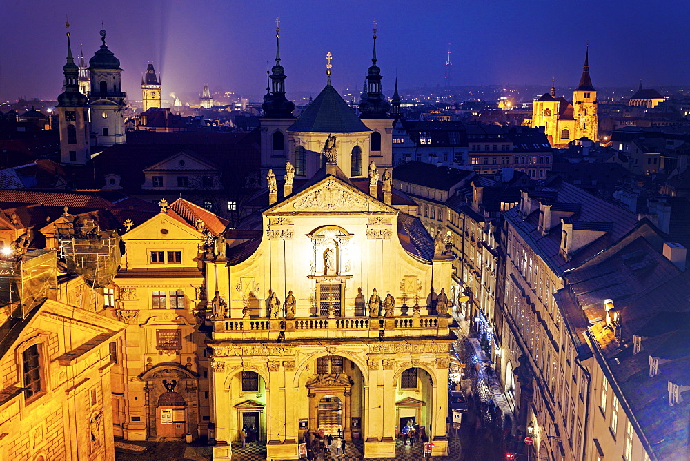 Church at night, Czech Republic, Prague