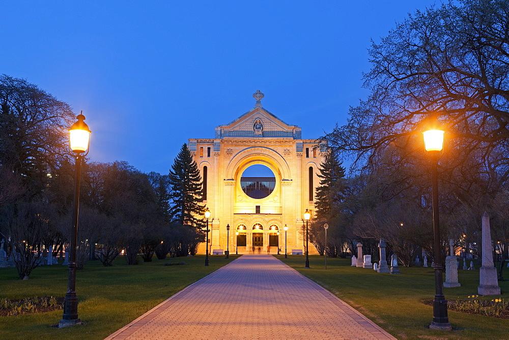 St Boniface Cathedral, Canada, Manitoba, Winnipeg, St Boniface Cathedral
