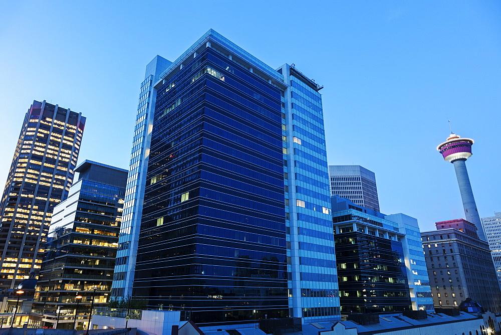 Modern skyscraper, Canada, Alberta, Calgary