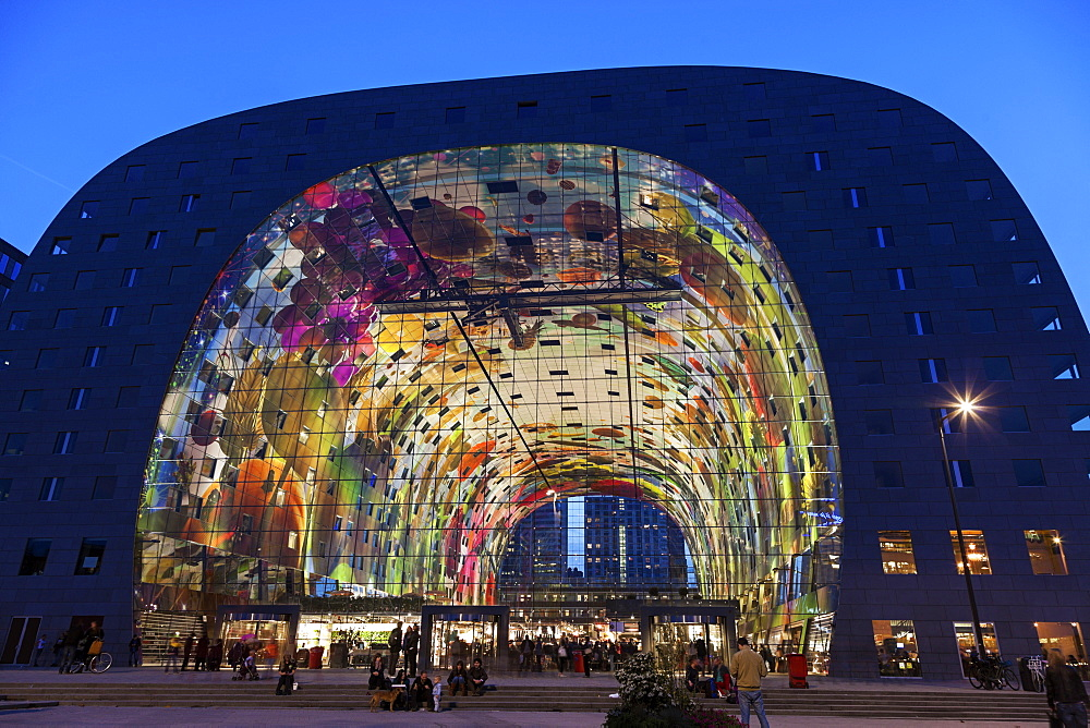 Markthal, Netherlands, South Holland, Rotterdam, Markthal