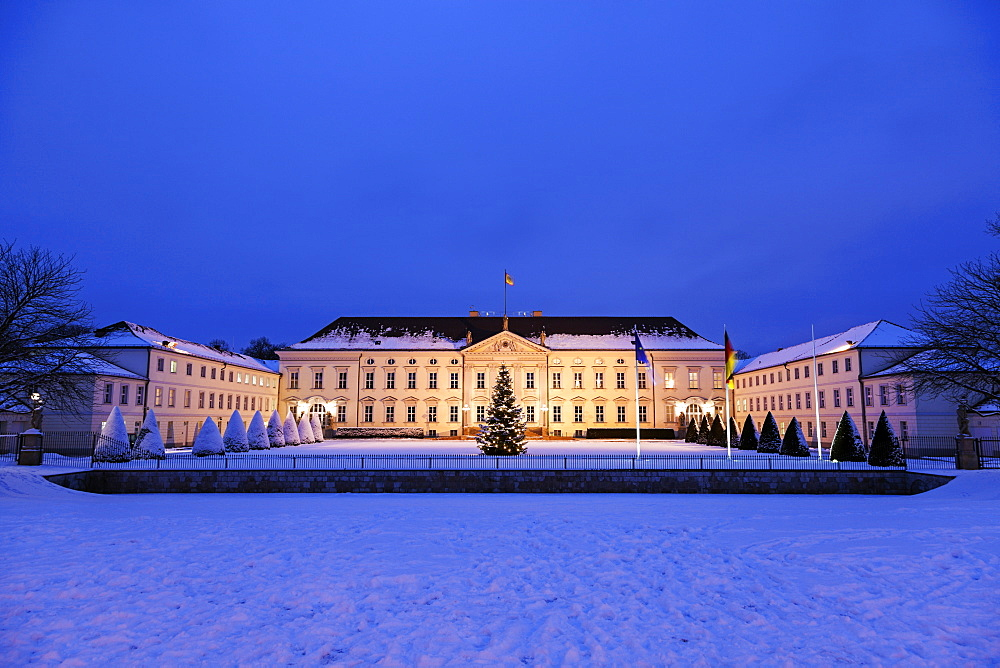 Bellevue Palace at winter night, Germany, Berlin, Bellevue Palace - 1178-25355