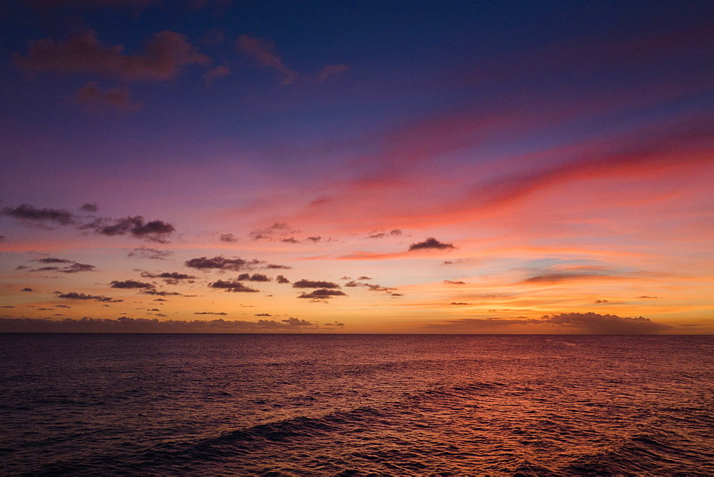 Sunset over sea, Barbados