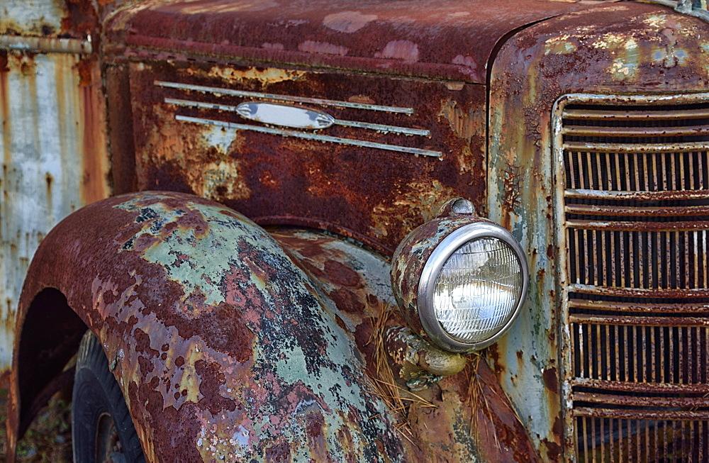 Rusty abandoned truck