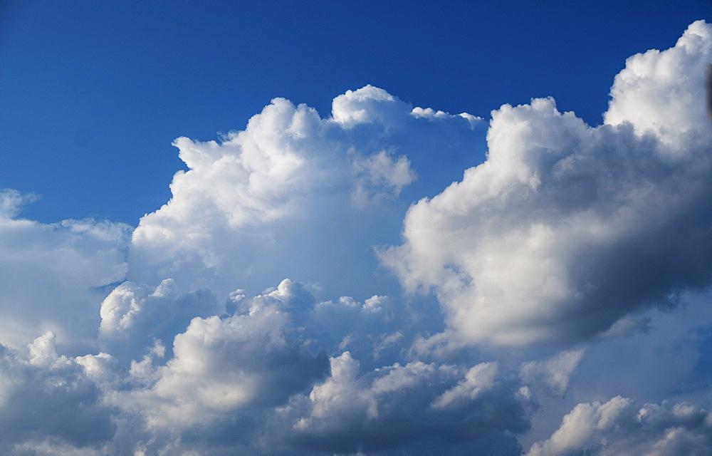 Cumulus clouds on sky