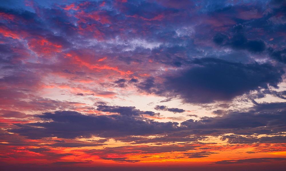 Multi colored dramatic sky