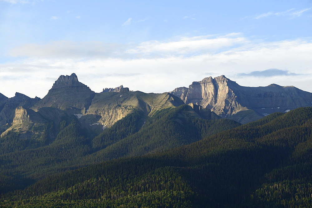USA, Colorado, Ridgway, Mount Sneffels and Sneffels range in San Juan Mountains