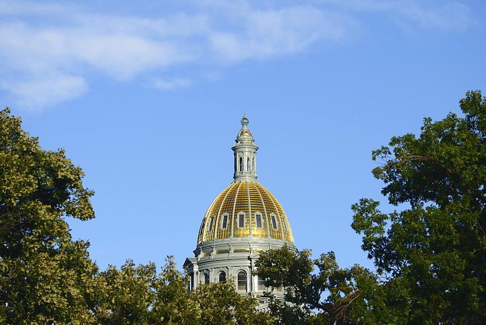 USA, Colorado, Denver, Capitol State building against blue sky