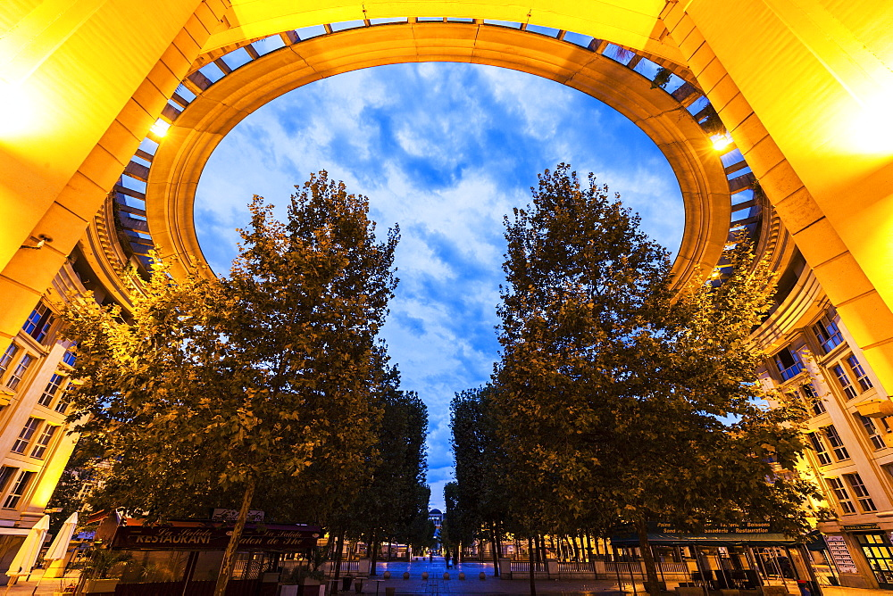 France, Occitanie, Montpellier, Modern architecture of Quartier Antigone