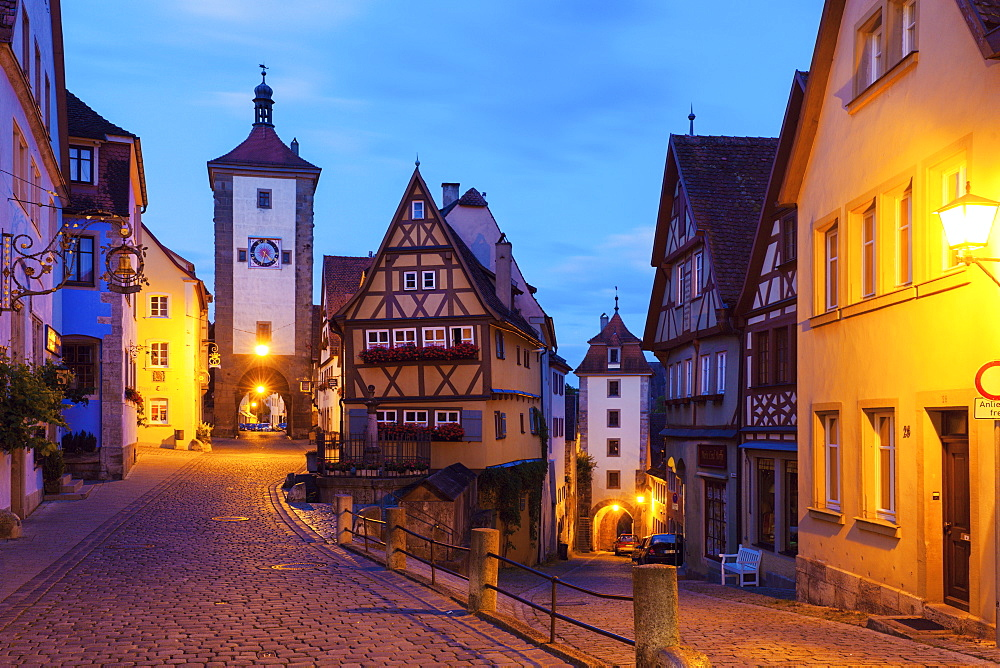 Germany, Bavaria, Rothenburg, Traditional houses in old town