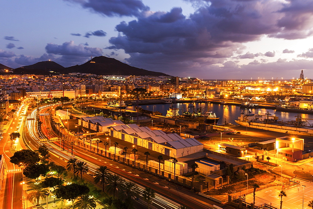 Spain, Canary Islands, Gran Canaria, Las Palmas, Panorama of Las Palmas